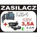 Zasilacz 12V/3500mA + łączówka zasilania LZ-1