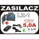 Zasilacz 12V/5000mA + łączówka zasilania LZ-1