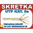 Kabel skrętka NETSET UTP 5e 15 lat GWR