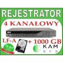 Rejestrator DVR BCS 0404 LF-A + dysk 1000 GB