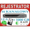 Rejestrator DVR BCS 1604 LF-A + dysk 1000 GB