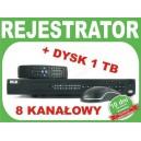 Rejestrator BCS 0804 LE-AS z dyskiem 1 TB