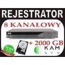 Rejestrator DVR BCS 0802Q FullD1+ dysk 2TB