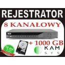 Rejestrator DVR BCS 0802Q + dysk 1000 GB 1TB