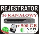 REJESTRATOR BCS 1602Q + dysk 500GB 400kl/s w D1