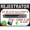 REJESTRATOR BCS 1602Q + dysk 1000GB 400kl/s w D1