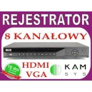 Rejestrator DVR BCS 0801M HDMI 8 kanałowy