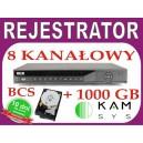 Rejestrator DVR BCS 0801M + dysk 1000 GB