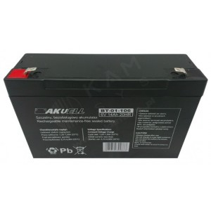 Akumulator 6V 14Ah żelowy AKUELL