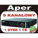 Rejestrator Aper PDR-XM3008 z dyskiem 1 TB