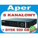 Rejestrator Aper PDR-XM3008 z dyskiem 500 GB