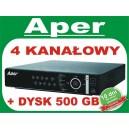 Rejestrator Aper PDR-XM3004 z dyskiem 500 GB