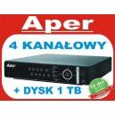 Rejestrator Aper PDR-XM3004 z dyskiem 1 TB