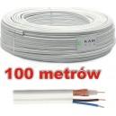 Kabel koncentryczny K-60-2x1 zasilanie NN 100m